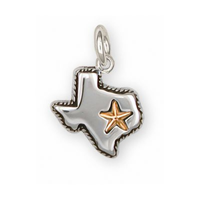 Sterling Silver State of Texas Charm