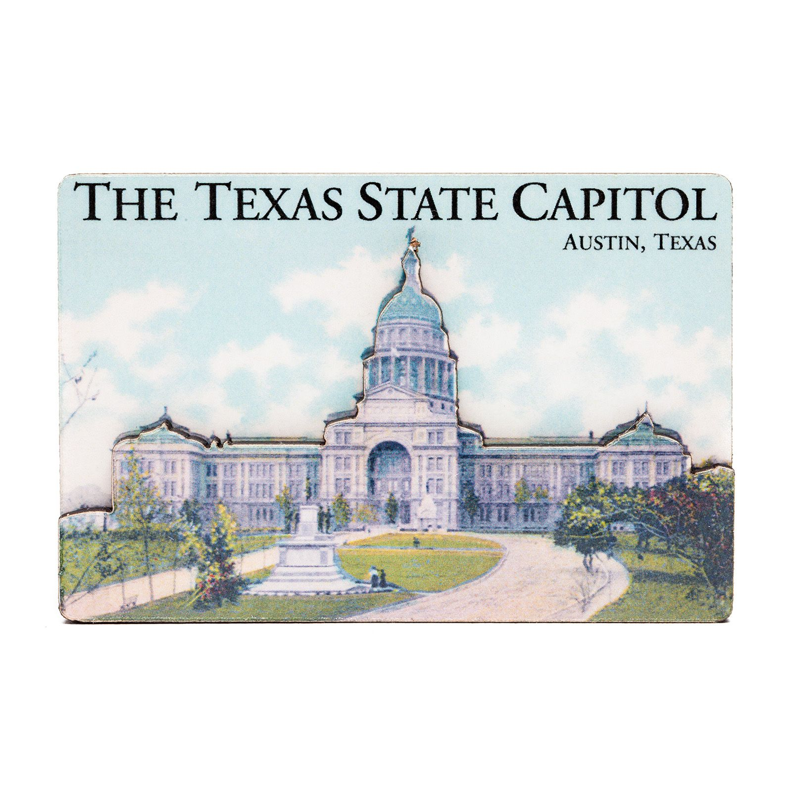 Dual Level Texas State Capitol Historic View Magnet