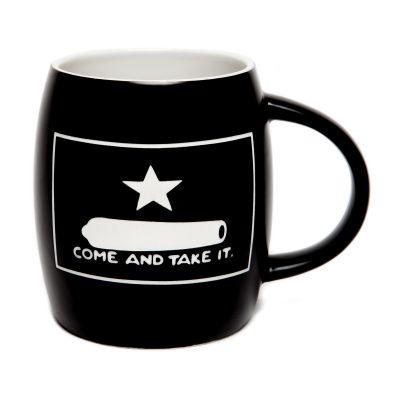 Gonzales Flag Deep Etched Black Ceramic Mug