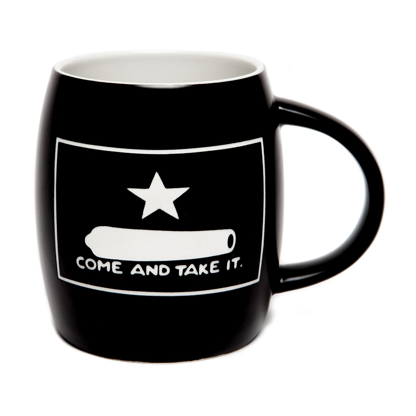 Gonzales Flag Deep Etched Black Mug
