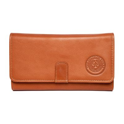 Leather Long Tri-Fold Wallet