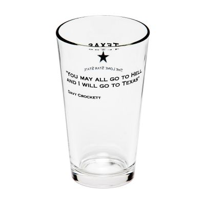 Davy Crockett Quote Pint Glass