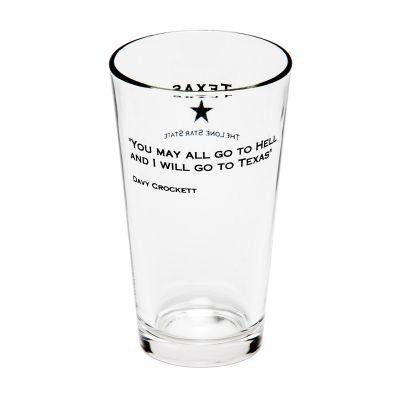 Davy Crockett Quote Pint Glass