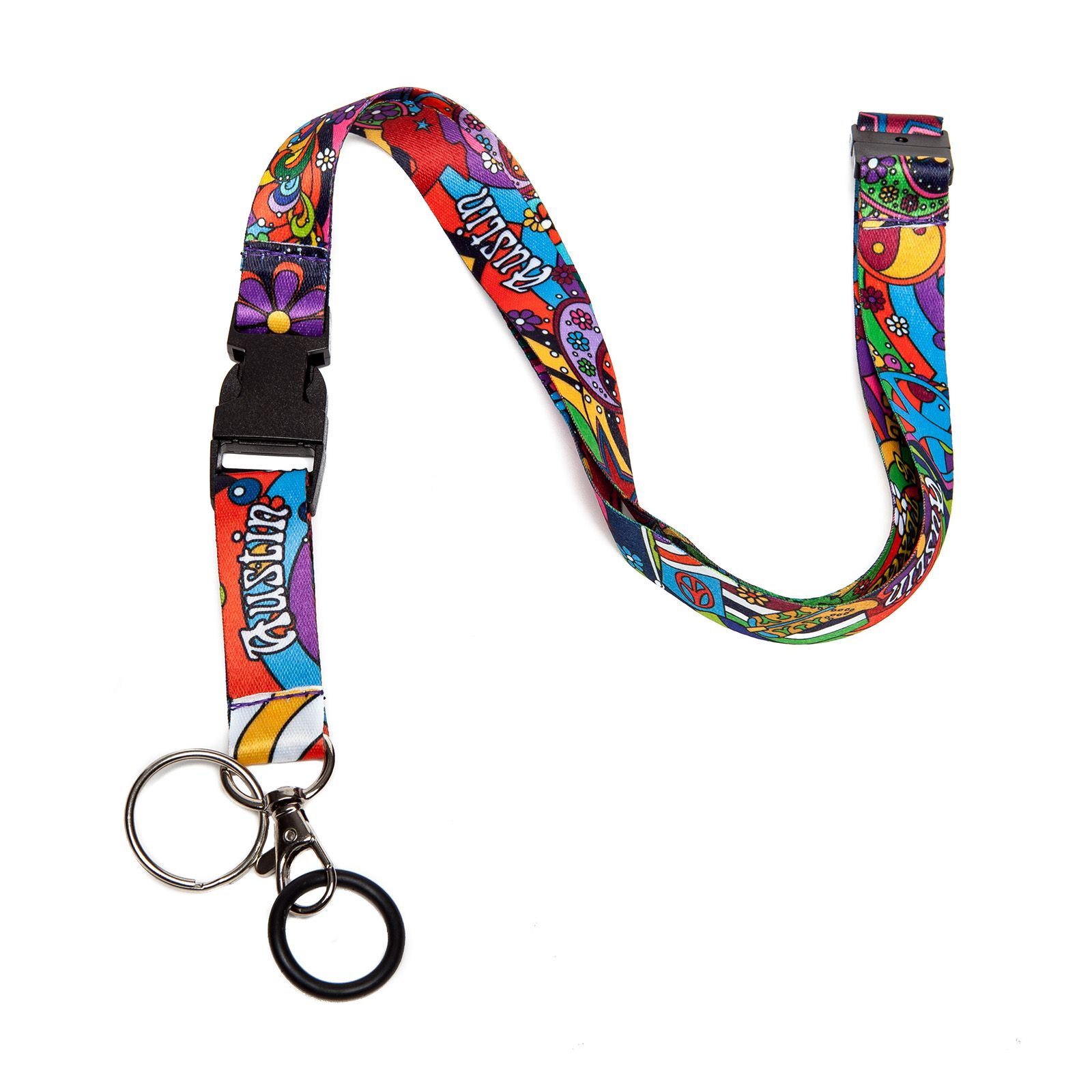Austin: Peace, Love, and Texas Lanyard