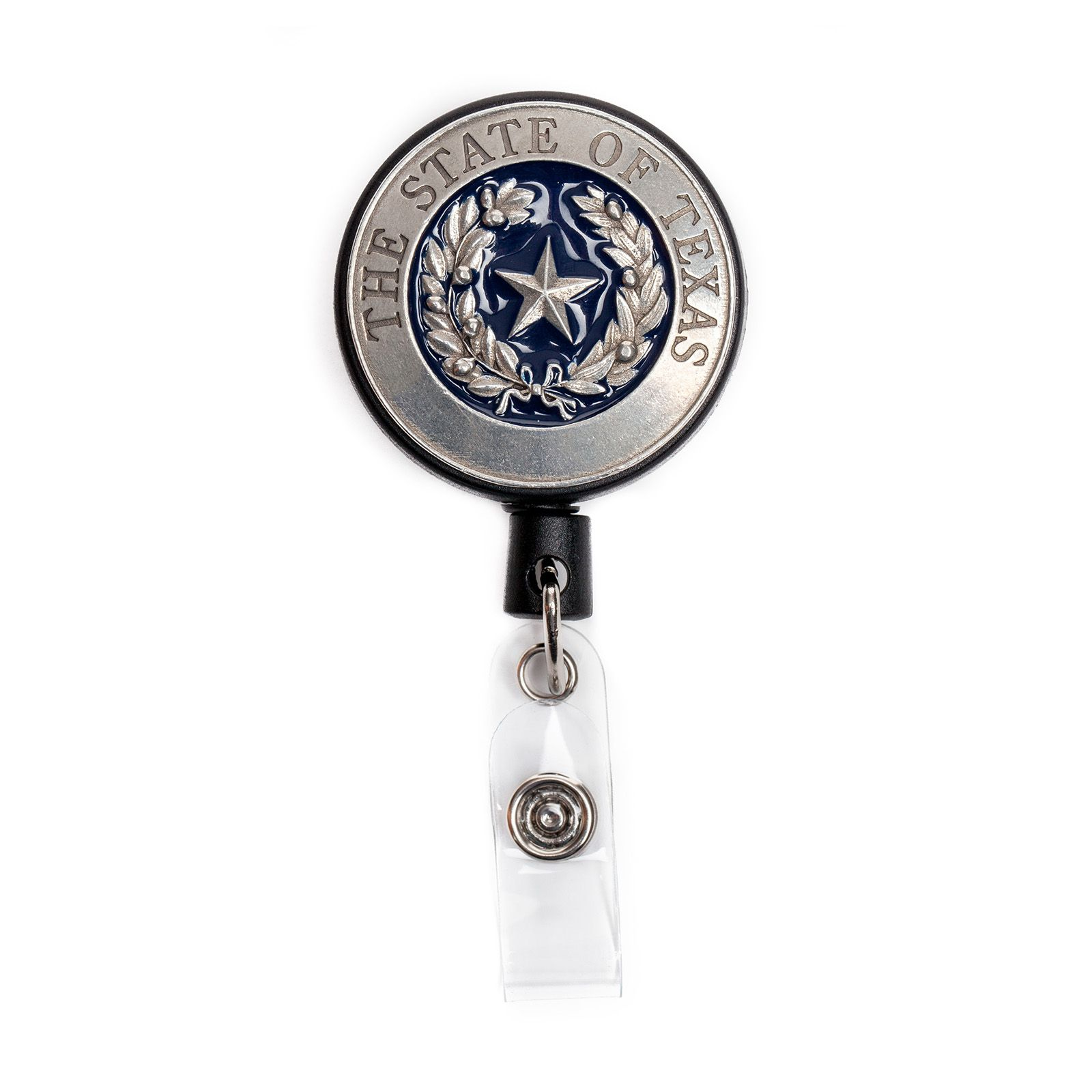 Texas State Seal Pewter Badge Reel