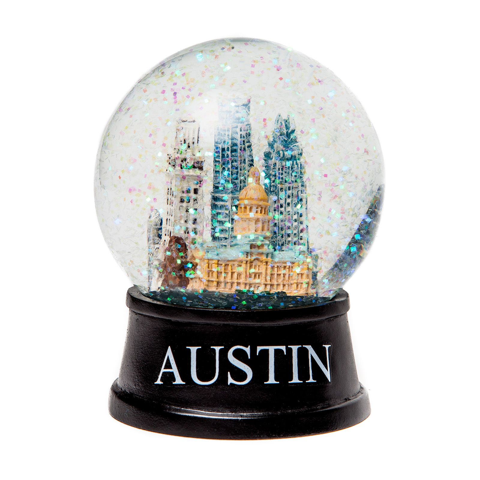 Austin Texas Small Glass Snow Globe