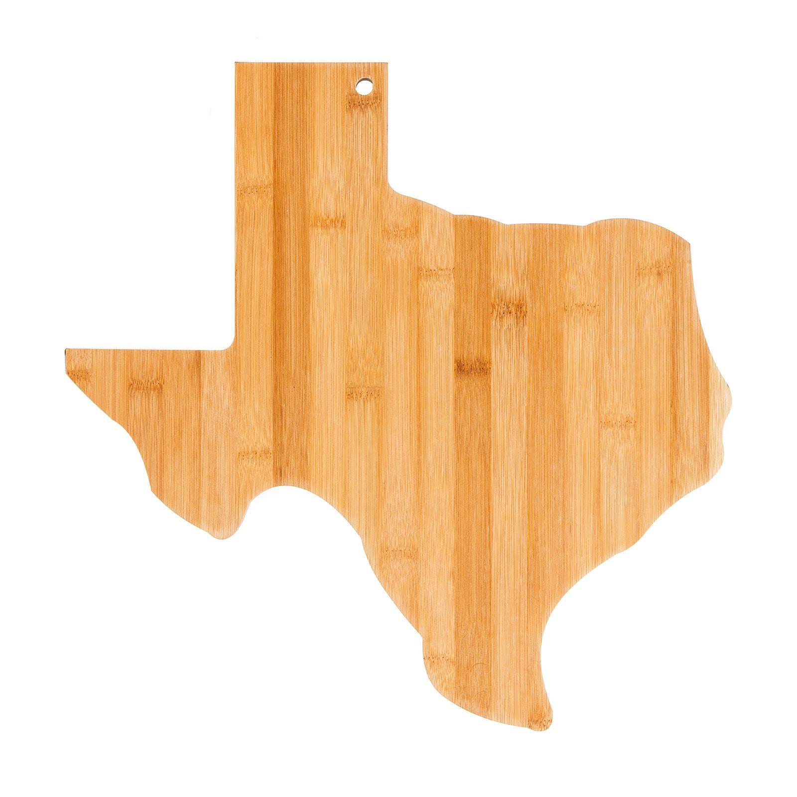 Texas Shape Wooden Cutting Board Texas Capitol Gift Shop