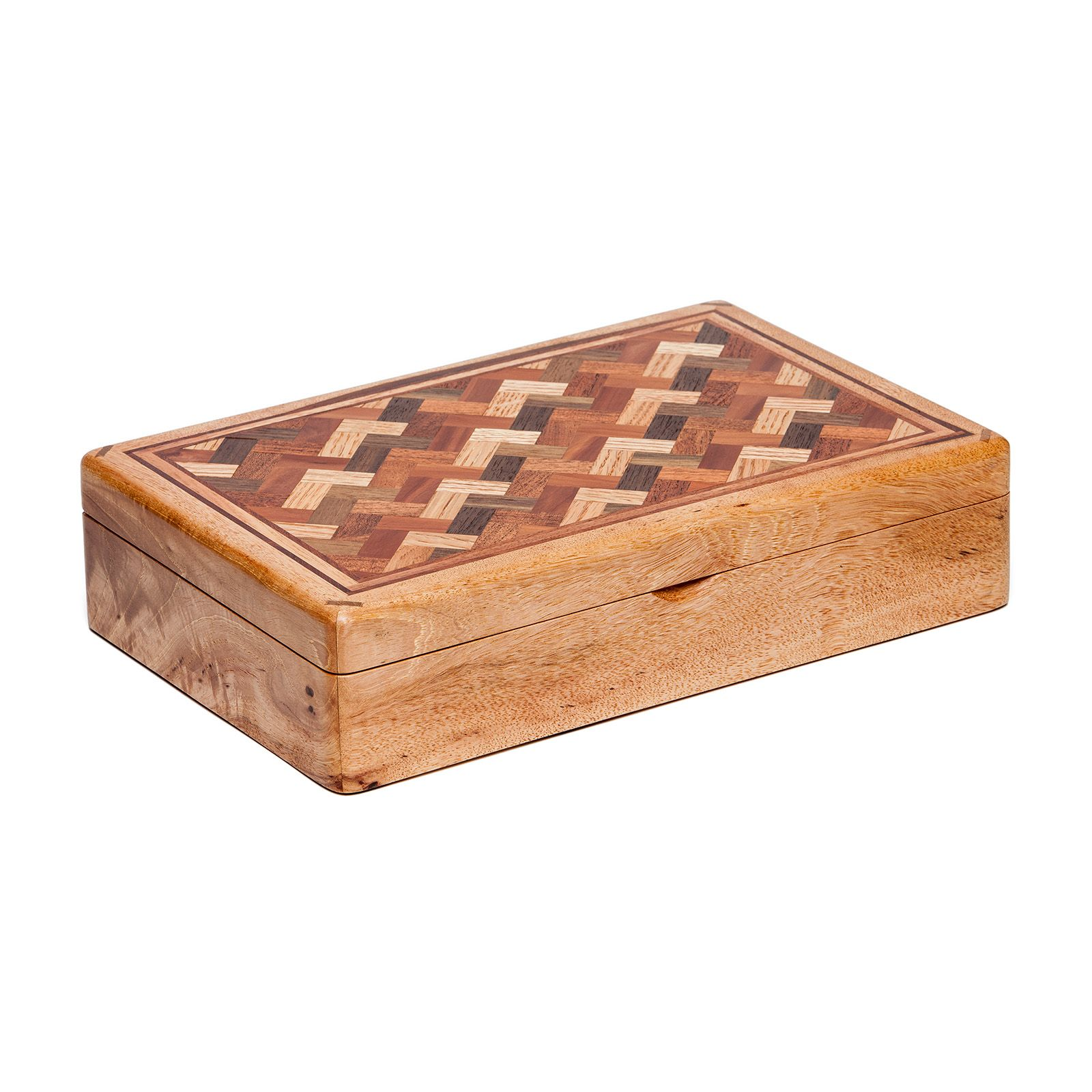 Capitol Wood Parquet Top Keepsake Box