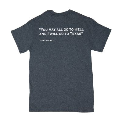 Davy Crockett Quote Grey T-Shirt