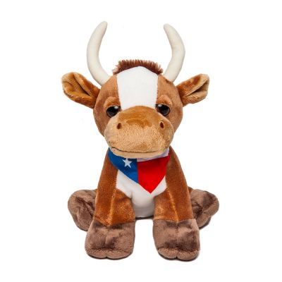 Longhorn with Texas State Flag Bandana Plush Toy