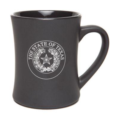 Texas State Seal Matte Grey Ceramic Mug