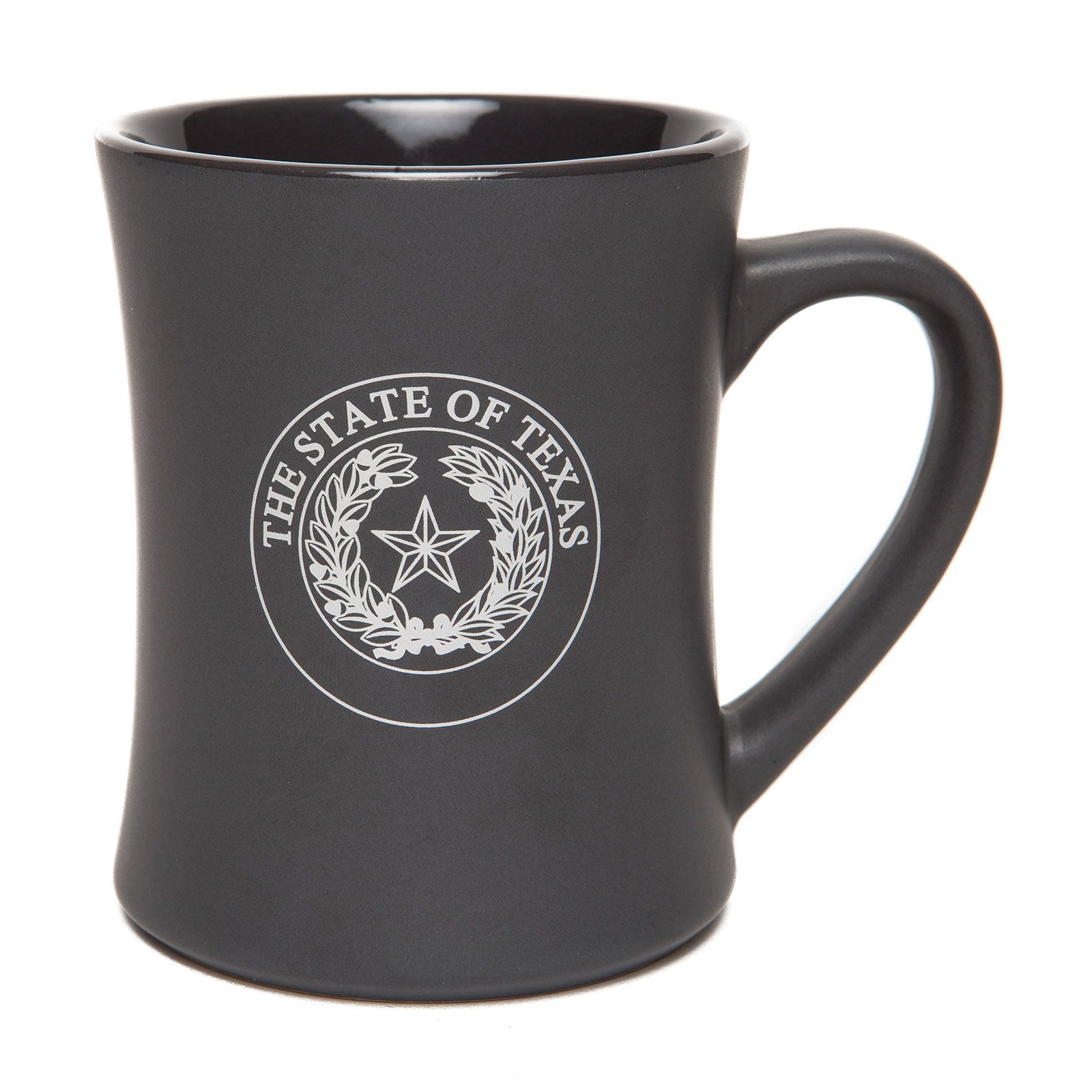 Texas State Seal Matte Grey Ceramic Mug