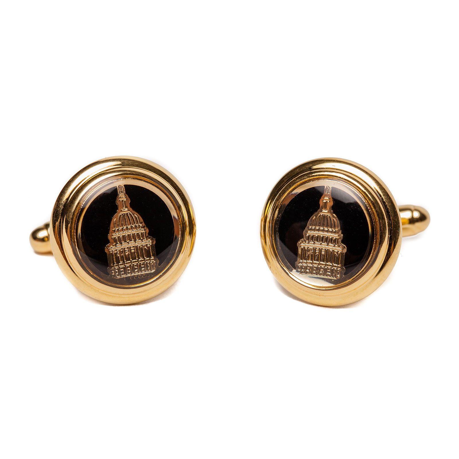 Texas Capitol Dome Gold Plated Cufflinks