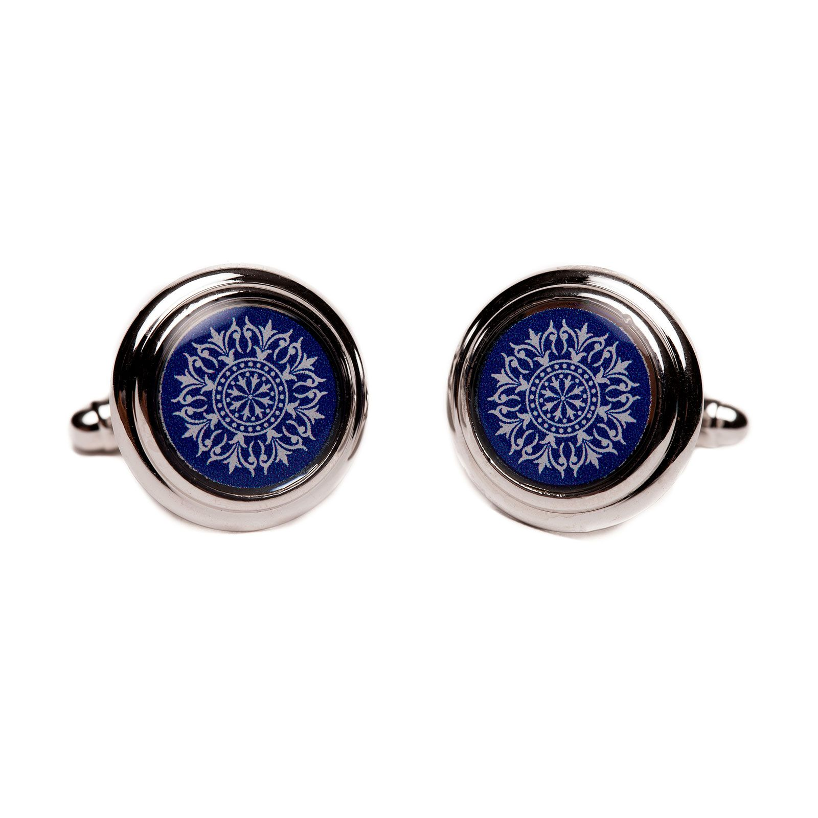 Oculus Silver Plated Cufflinks