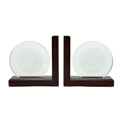 Texas State Seal Wood and Glass Bookends