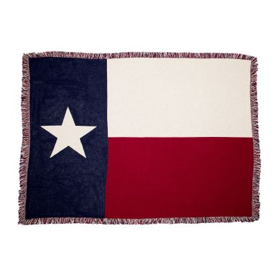 Texas Flag Cotton Jacquard Throw