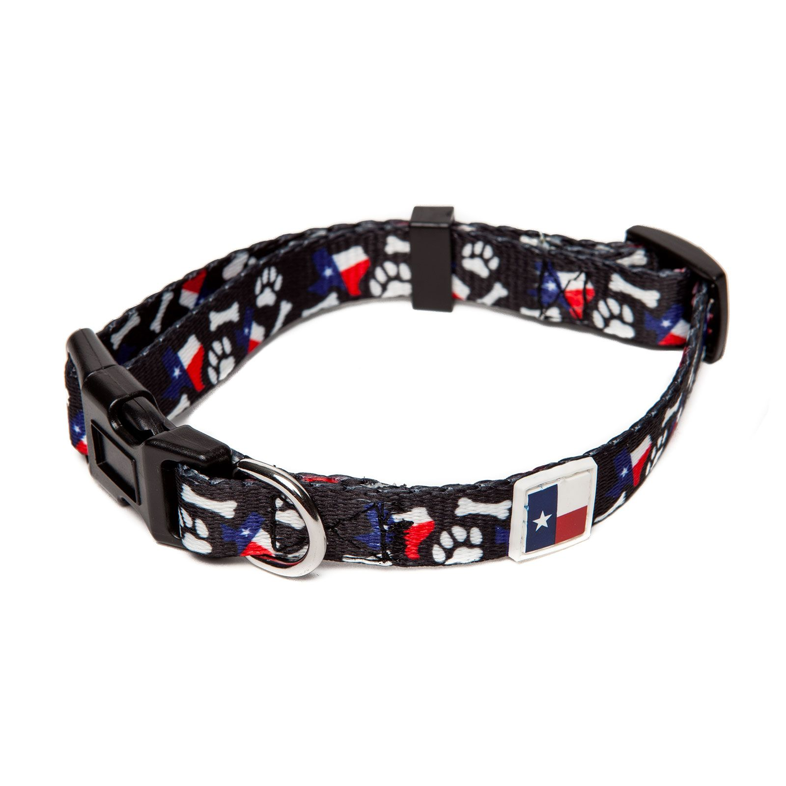 PrideBites™ Texas Bones and Paws Dog Collar