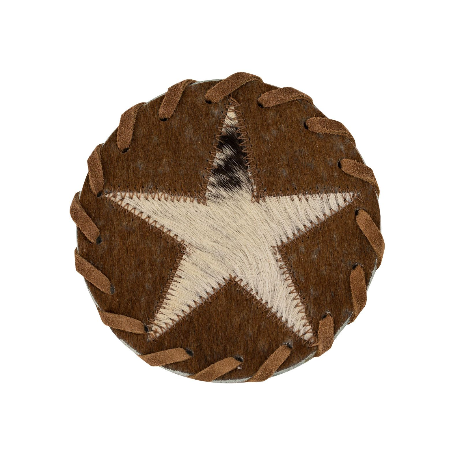 Leather Star Coaster