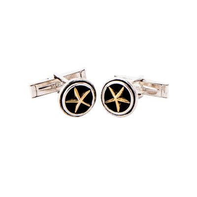 Sterling Silver Lone Star Cuff Links