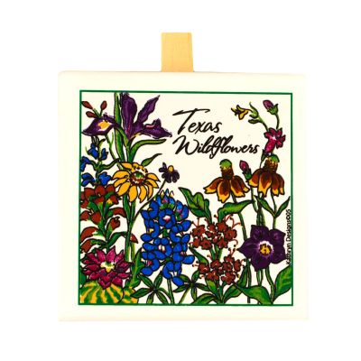 Texas Wildflowers Ceramic Stand-up Message Clip