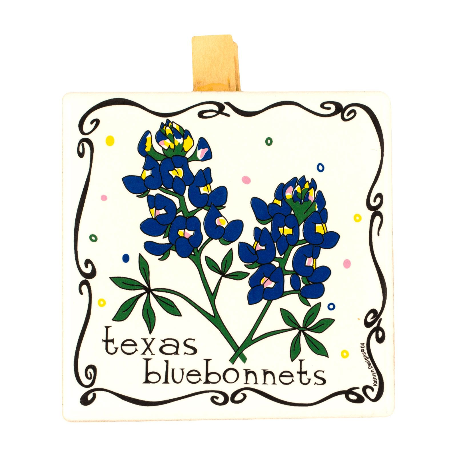 Bluebonnet Message Clip