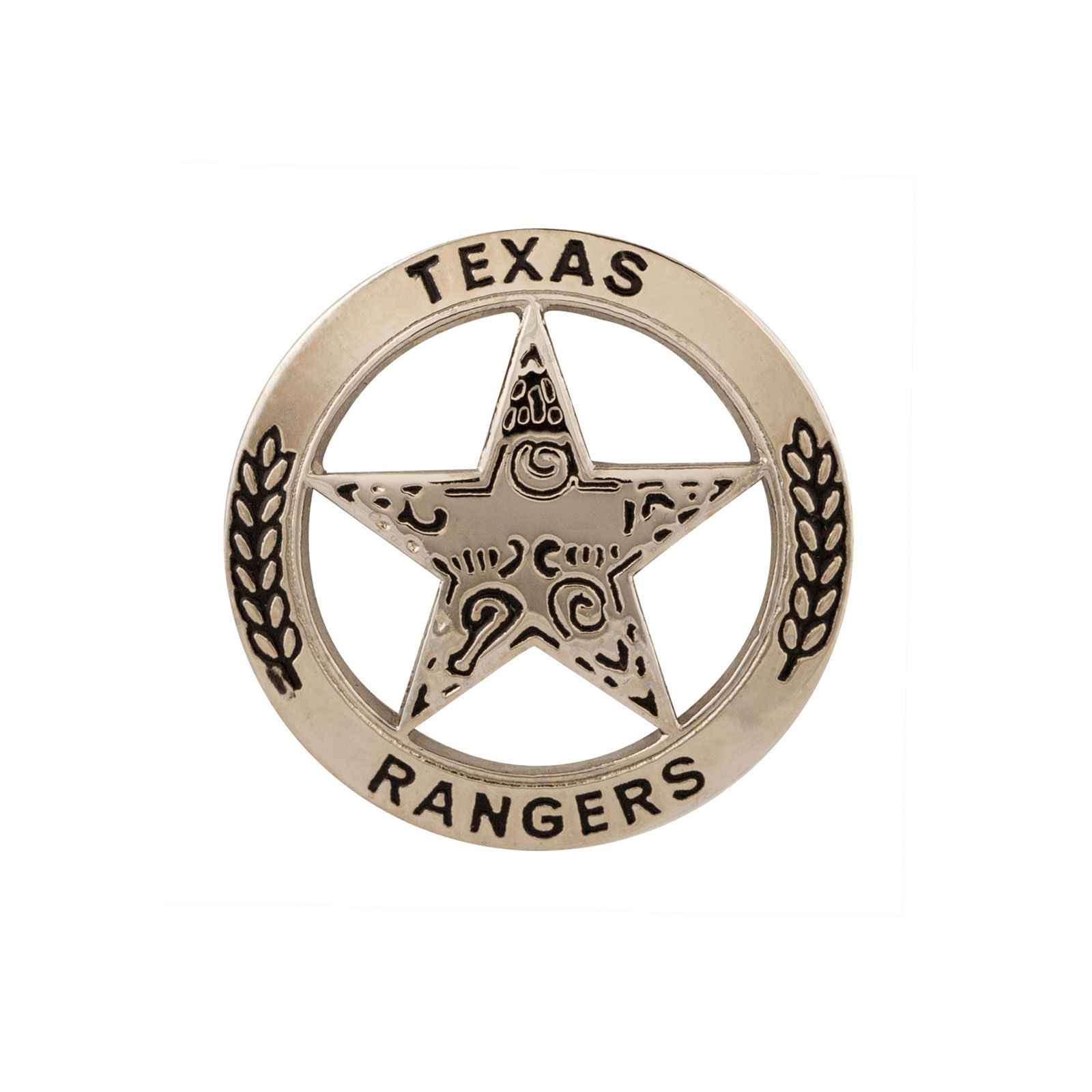 Texas Ranger Lapel Pin - Silver