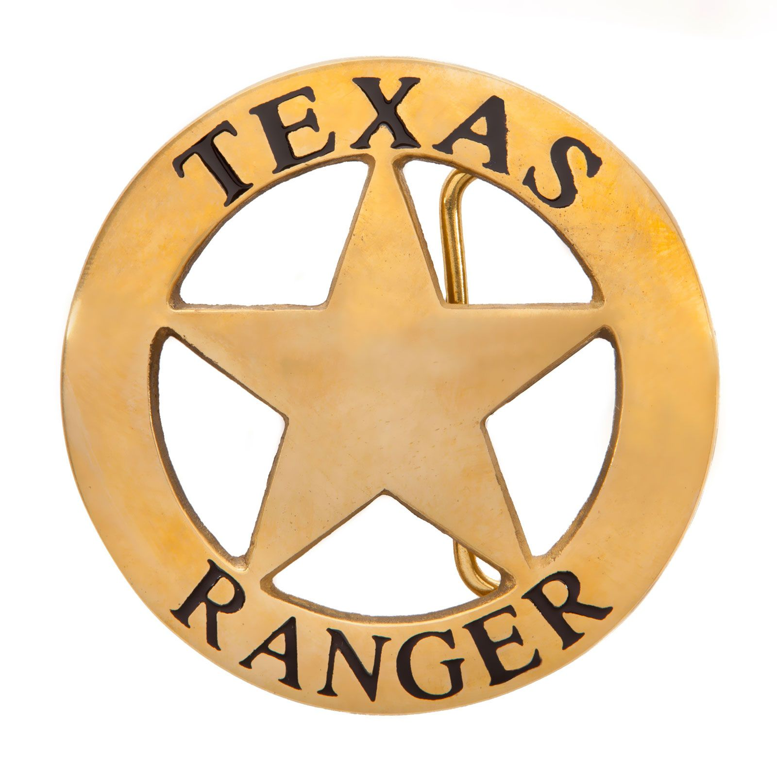 Texas Ranger Gold Tone Belt Buckle