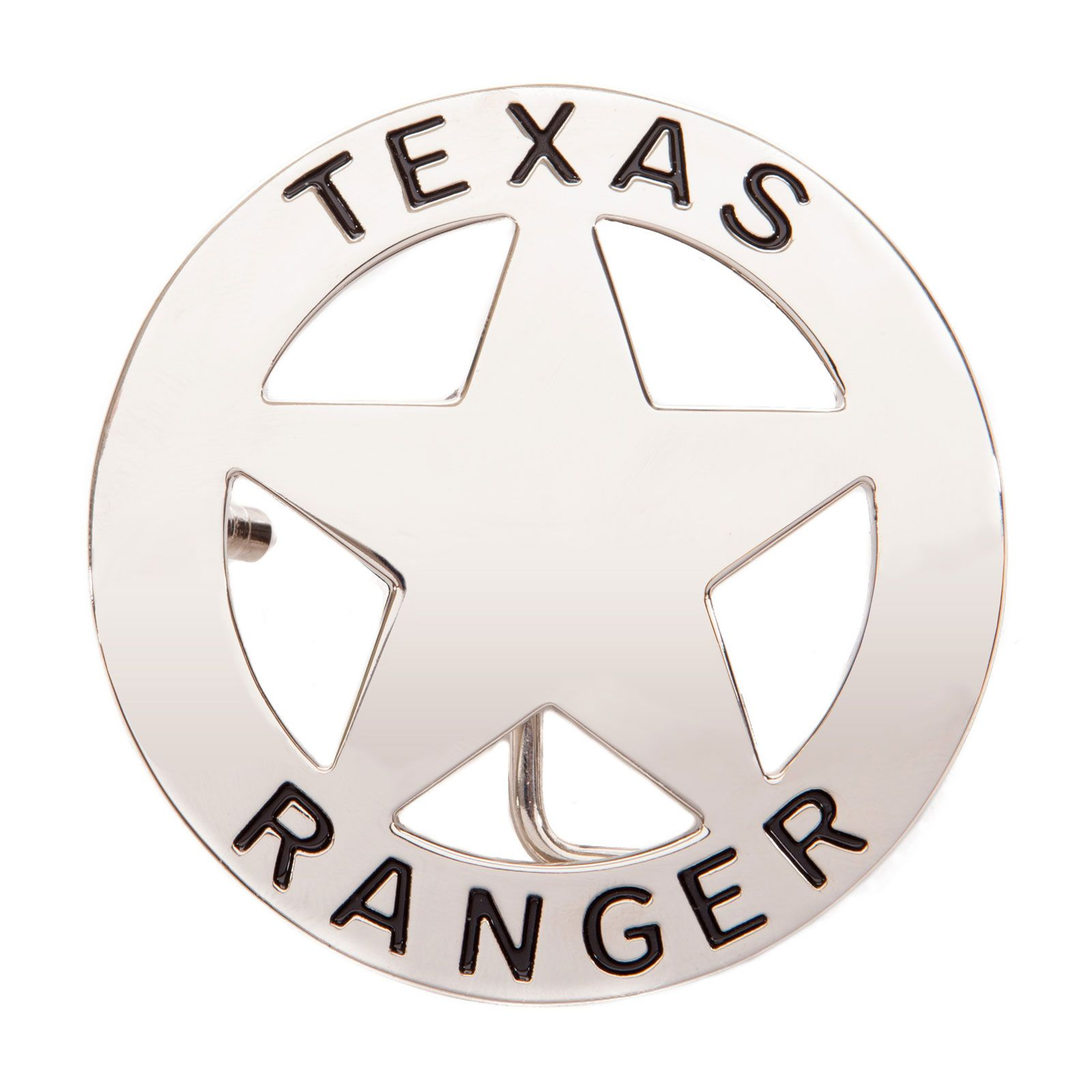 Texas Ranger Silver Tone Belt Buckle