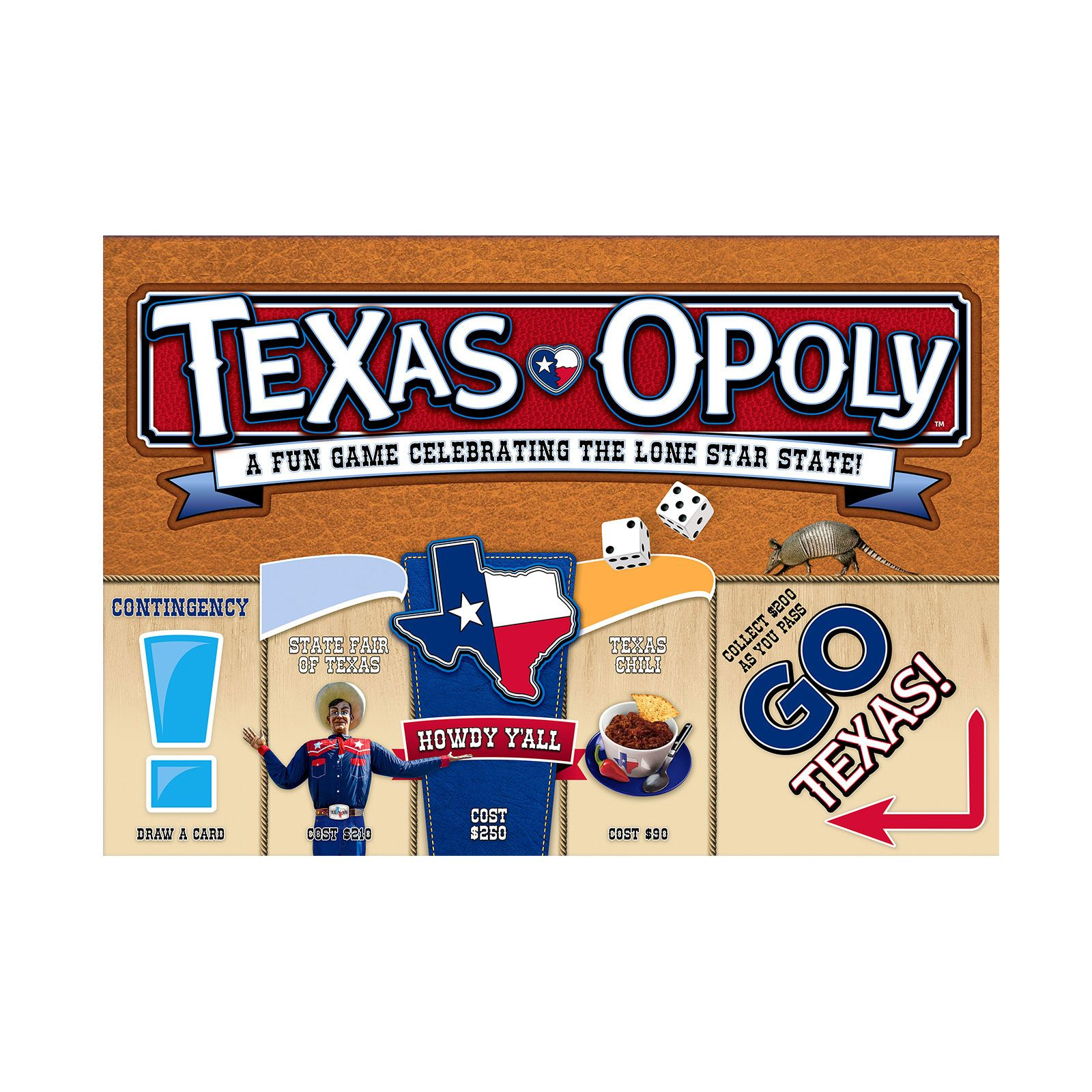 Texas-Opoly Board Game