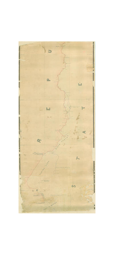 A.B. Gray Map of the River Sabine from its mouth on the Gulf of Mexico in the Sea to Logan's Ferry, 1842 (Pt. 3 of 3 - South)