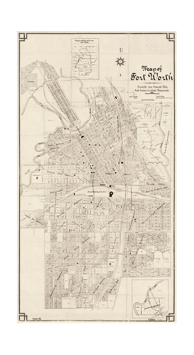 G.H. Frank Map of Fort Worth, 1902