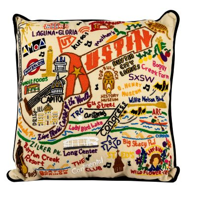 Catstudio™ Austin Hand-Embroidered Accent Pillow