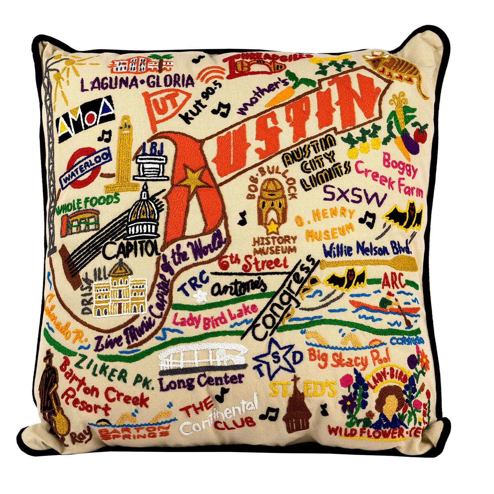 Austin Hand-Embroidered Accent Pillow