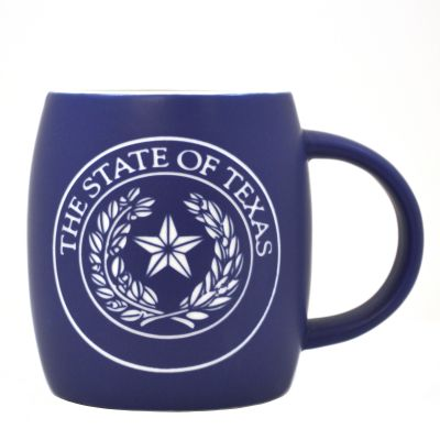 Blue State Seal Etched Mug