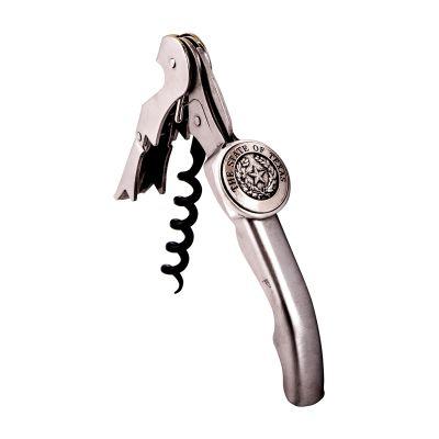 Texas State Seal Pewter Corkscrew