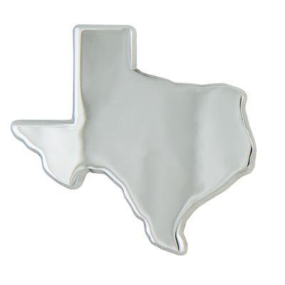 Texas Shaped Chrome Auto Emblem