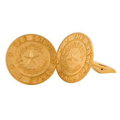 Texas State Seal Gold-Filled Cufflinks