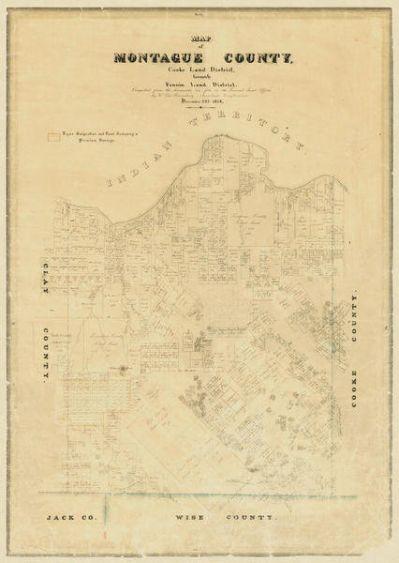 Carl Wilhelm von Rosenberg Map of Montague County, 1858