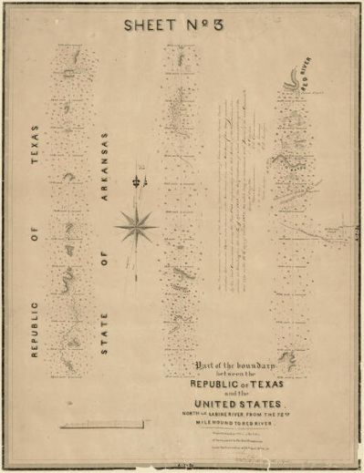 A. B. Gray Part of the boundary between the Republic of Texas and the United States, North of Sabine River, from the 72nd Mile Mound to Red River, 1842