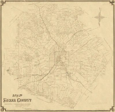 John D. Rullman Map of Bexar County, 1887