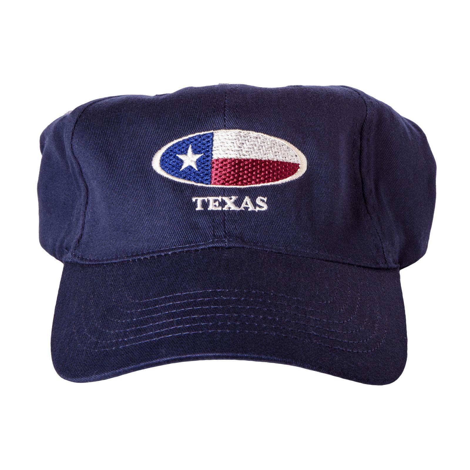 Oval Texas Flag Baseball Cap