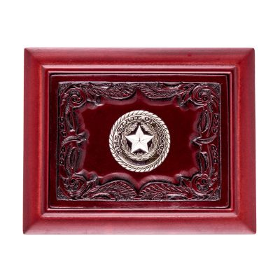 Texas State Seal Mahogany Desk Box