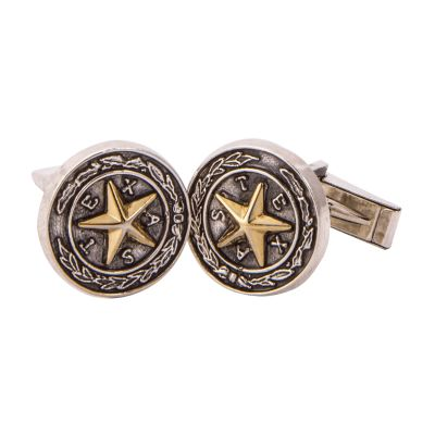 Capitol Chandelier Motif Sterling Silver Cuff Links