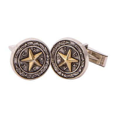 Capitol Chandelier Motif Sterling Silver Cufflinks