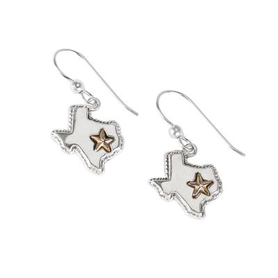 Sterling Silver State of Texas Earrings