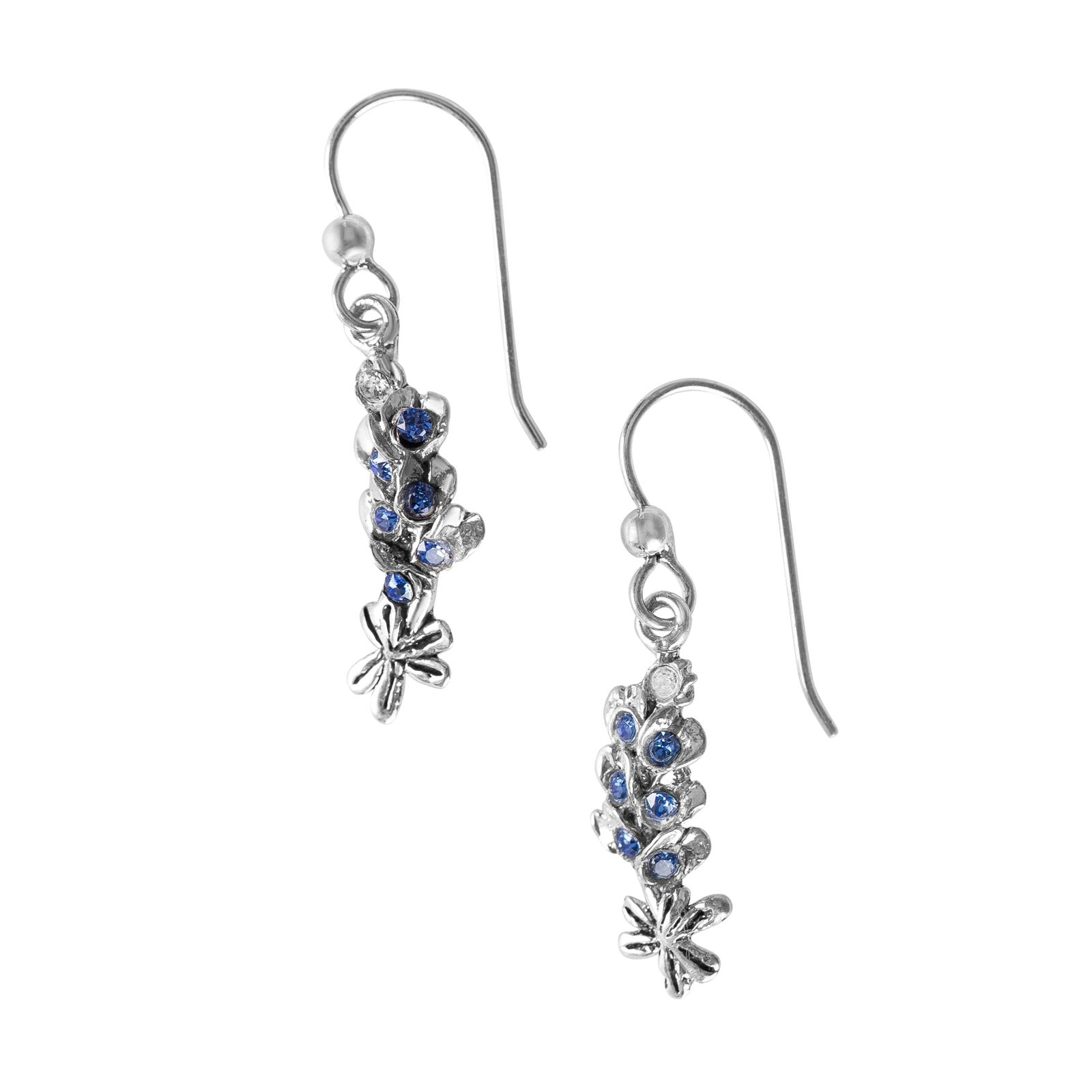Sterling Silver Bluebonnet Earrings