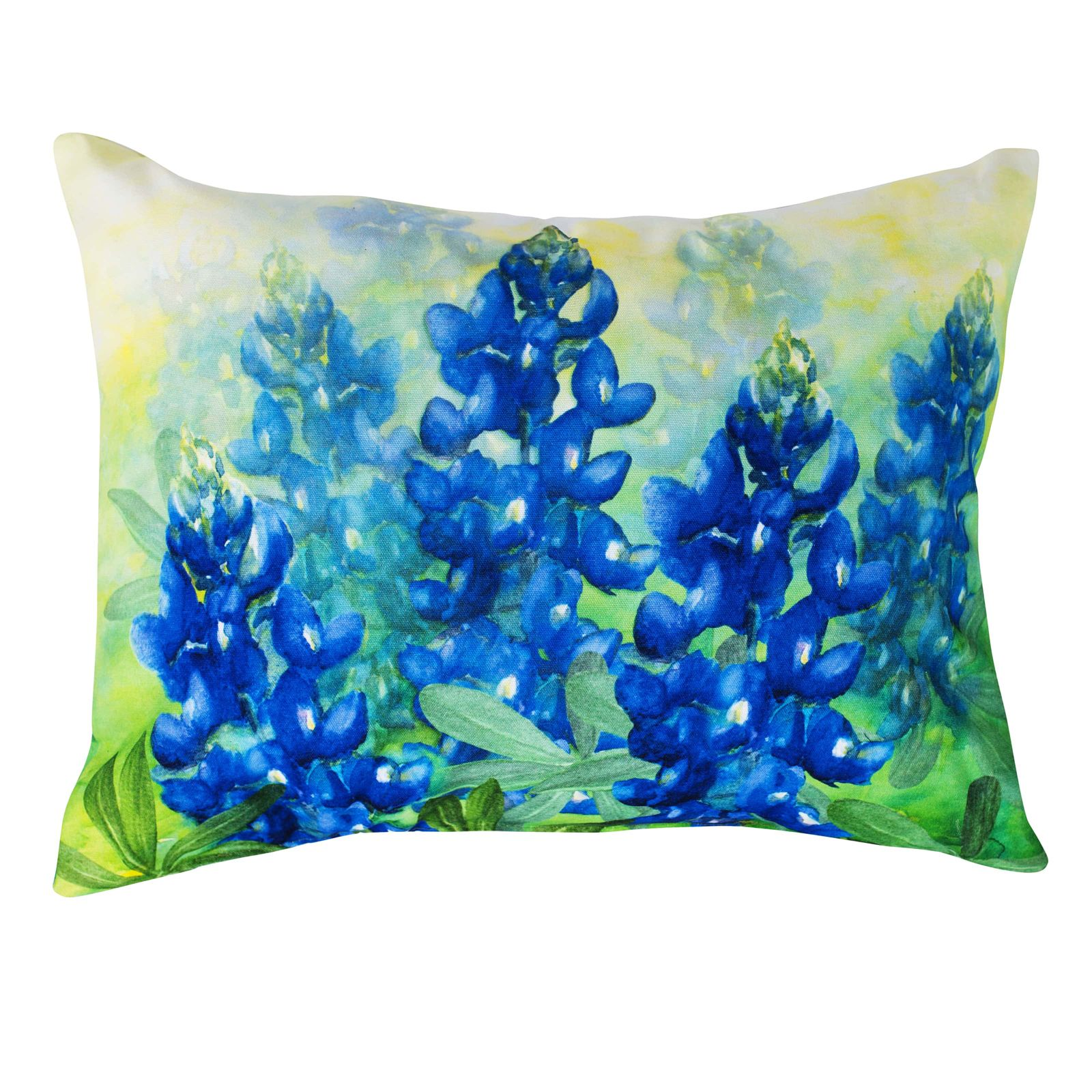 Bluebonnet Watercolor Indoor/Outdoor Accent Pillow