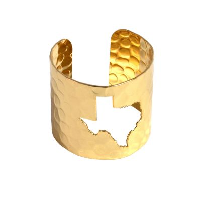 Gold Tone Texas Cuff Bracelet