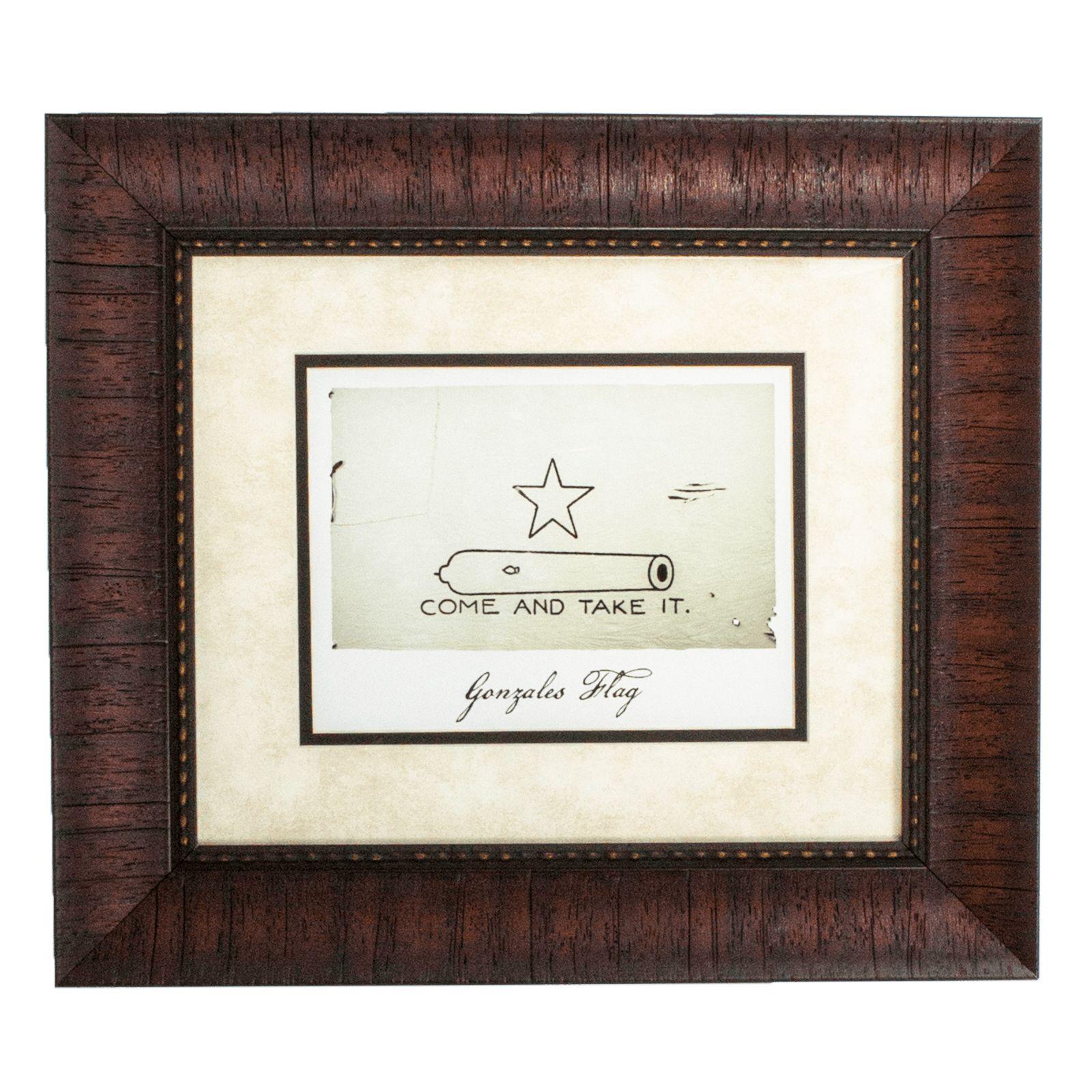 Framed Gonzales Battle Flag | Texas Capitol Gift Shop