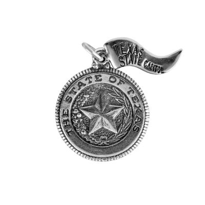 Texas State Seal Sterling Silver Charm